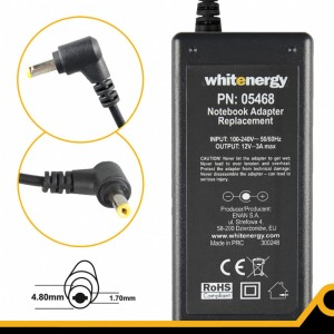 Whitenergy Zasilacz 05468 12V | 3A 36W wtyk 4.8*1.7 mm Asus Eee PC