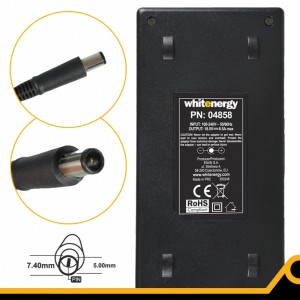 Whitenergy Zasilacz 04858 18.5V | 6.5A 120W wtyk 7.4*5.0 + pin HP