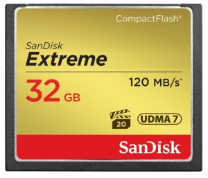 SanDisk Extreme CompactFlash 32GB 120/85 MB/s