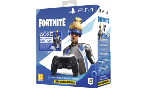 Dualshock Sony PS4 Black V2 + Fortnite Neo Versa Bundle