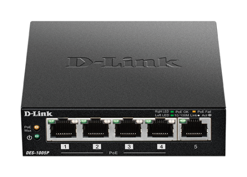 Switch D-Link 5p DES-1005P 5x10/100Mbit