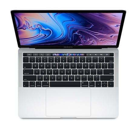 Apple MacBook Pro 13 Touch Bar: 1.4GHz quad-8th Intel Core i5/8GB/128GB - Silver MUHQ2ZE/A