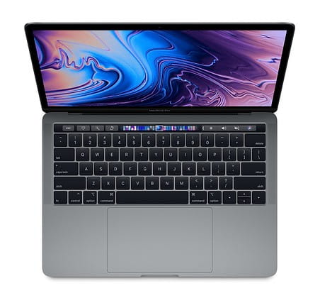 Apple MacBook Pro 13 Touch Bar, 2.4GHz quad-core 8th i5/8GB/256GB SSD/Iris Plus Graphics 655 - Space Grey MV962ZE/A