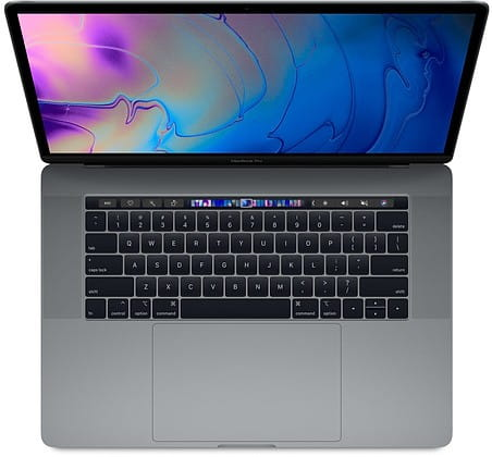 Apple MacBook Pro 15 Touch Bar, 2.3GHz 8-core 9th i9/16GB/512GB SSD/RP560X - Space Grey MV912ZE/A