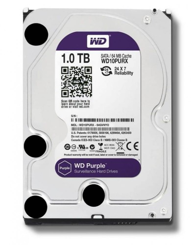 Western Digital Purple 1TB 3,5'' 64MB SATAIII/5400rpm
