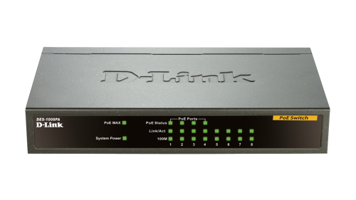 Switch D-Link DES-1008PA 8x10/100Mbps