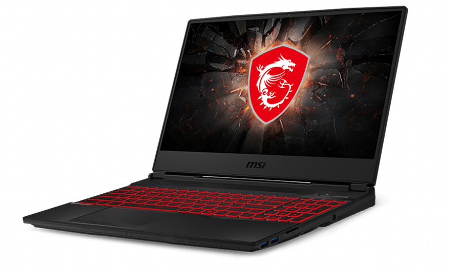 Laptop do gier MSI - widok z boku