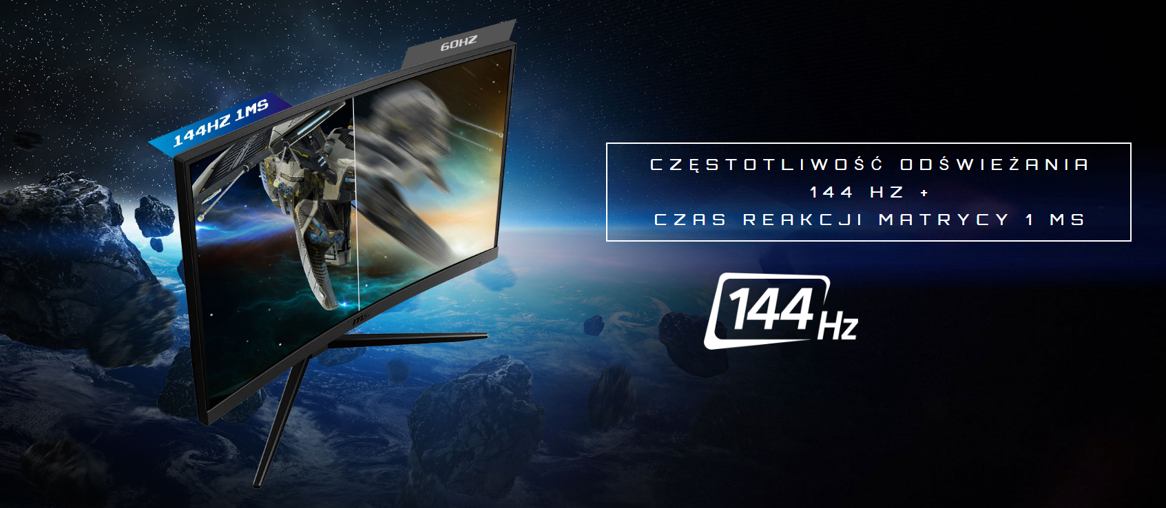 Gamingowy monitor MSI - 144 Hz